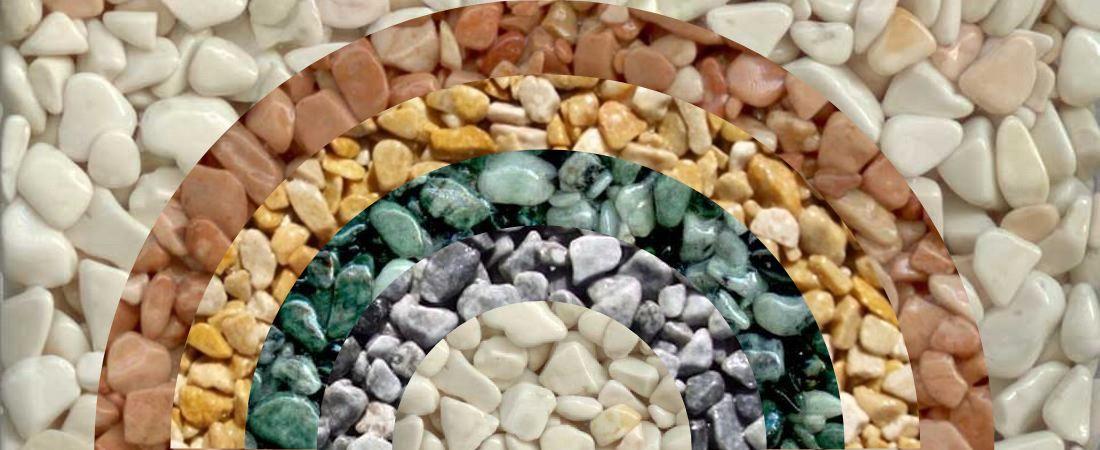 Le marbre concassé, une roche aux teintes naturelles